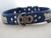 Appenzeller Halsband enzianblau