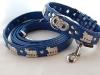 Appenzeller Halsband und Leine enzianblau