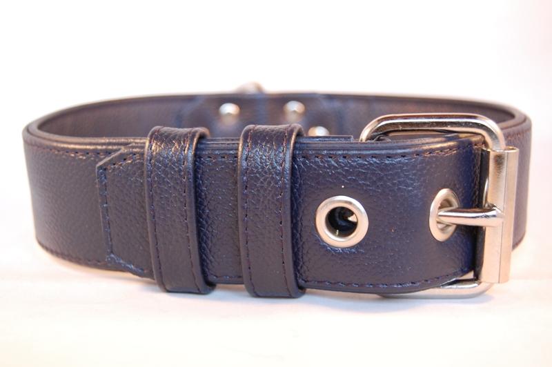 Lederhalsband 4 cm breit
