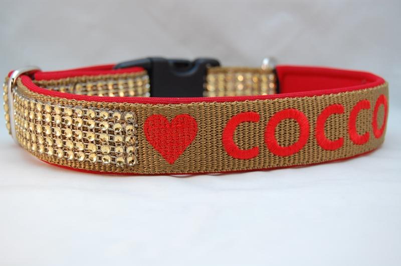 Hundehalsband Haute Couture mit Name