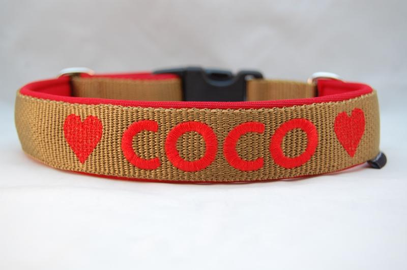 Hundehalsband 3 cm breit
