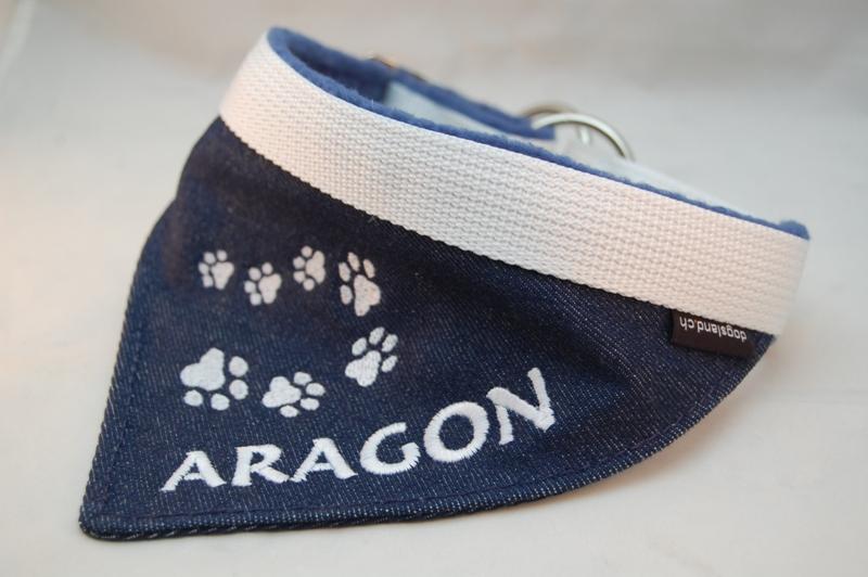 Hundehalstuch mit Halsband Jeans