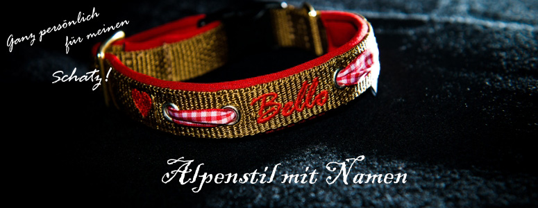 Namenshalsband Alpenstil