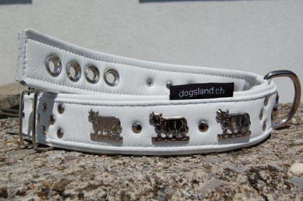 Appenzeller Halsband weiss