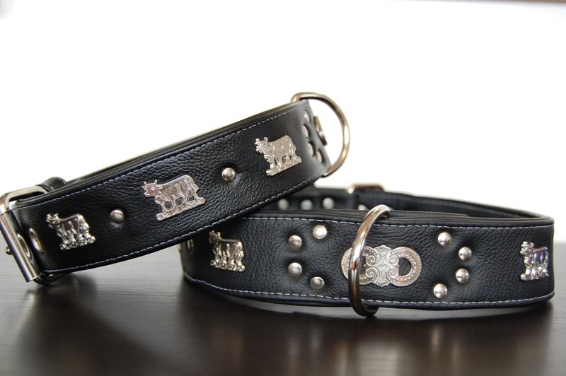 Appenzeller Lederhalsband schwarz