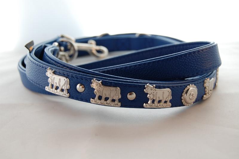 Appenzeller Hundeleine enzianblau
