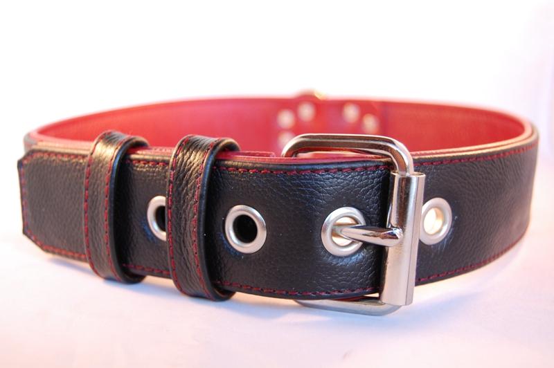 Lederhalsband 3 cm