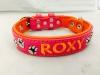 Lederhalsband pink-orange-01