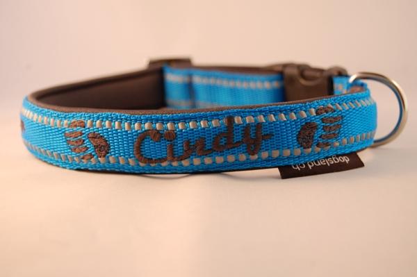 Reflex Hundehalsband bestickt