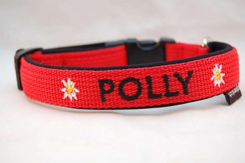 Edelweiss Hundehalsband mit Blinklicht