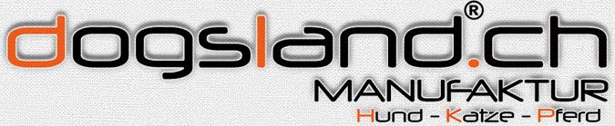 dogsland.ch - Hundehalsband - Hundegeschirr - Katzenhalsband - Pferdehalfter - Bestickungen - Tierzubehör-Logo