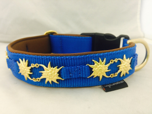 Hundehalsband Edelweiss Tracht
